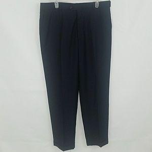 Armani Mens Dark Blue Pin Stripped Suit Pants